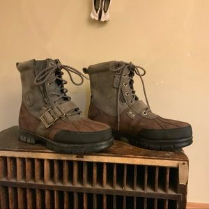 Lauren Ralph Lauren QUILLAN leather boot 9 1/2